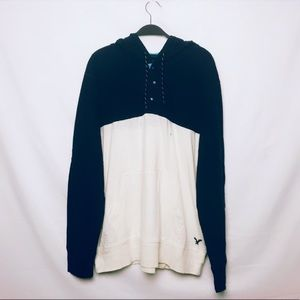 AMERICAN EAGLE Colorblock Pullover Hoodie Sweater